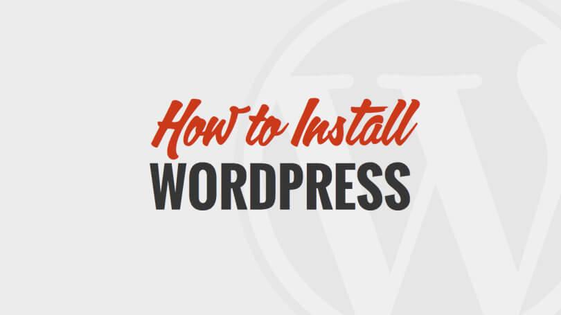 Jak instalovat WordPress