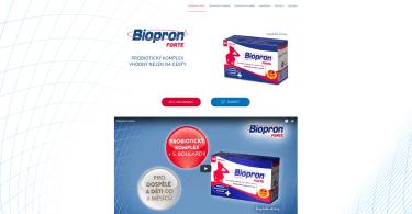 biopron.cz - produktová microsite