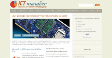 ICT manažer - internetový magazín