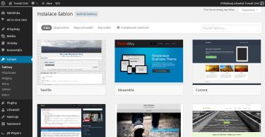 Instalace šablony z WordPress.org