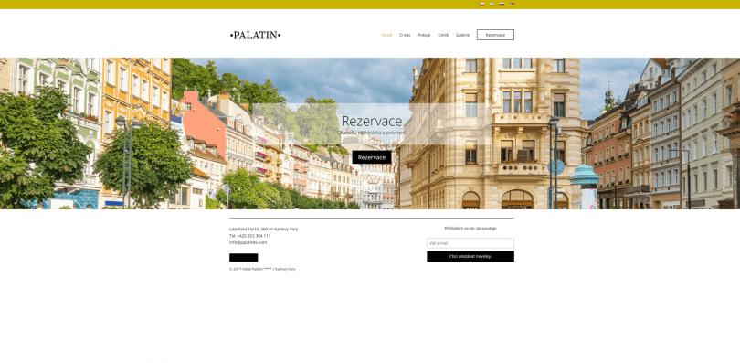 palatinkv.com - stránky hotelu