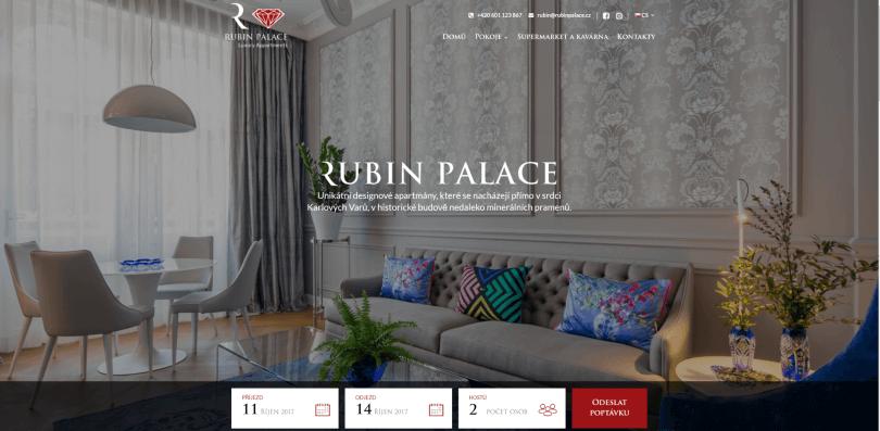 rubinpalace.cz - stránky hotelu