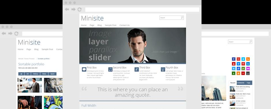 Minisite-Screenshot