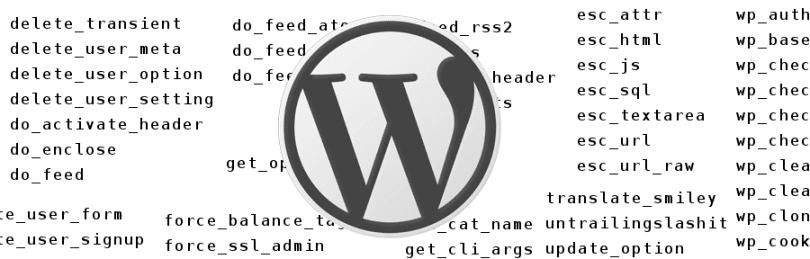WordPress funkce