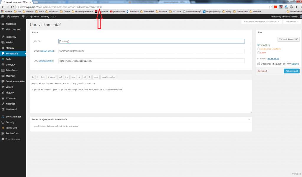 ID komentáře
