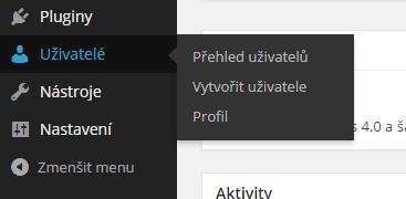 Uživatelé - Profil