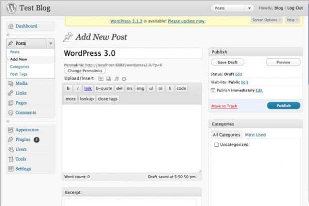 """WordPress 3.0 """"Thelonious"""" - příspěvek"""