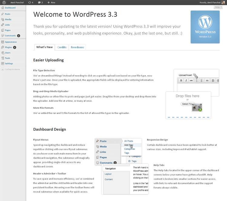 "WordPress 3.3 ""Sonny"""
