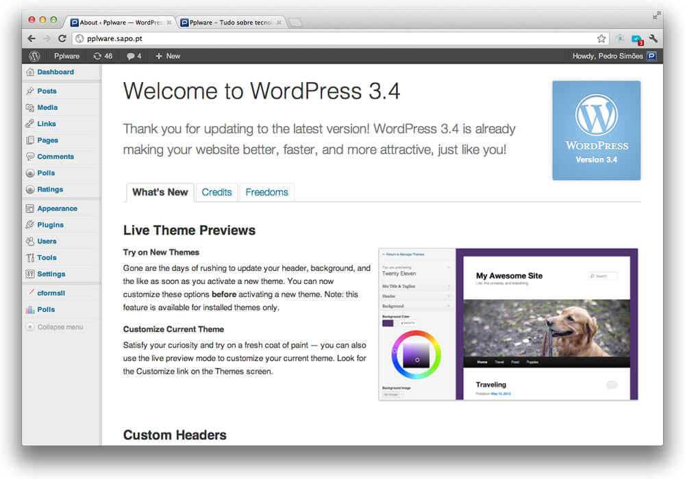 "WordPress 3.4 ""Green"""