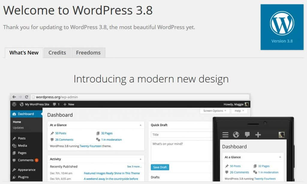 "WordPress 3.8 ""Parker"""