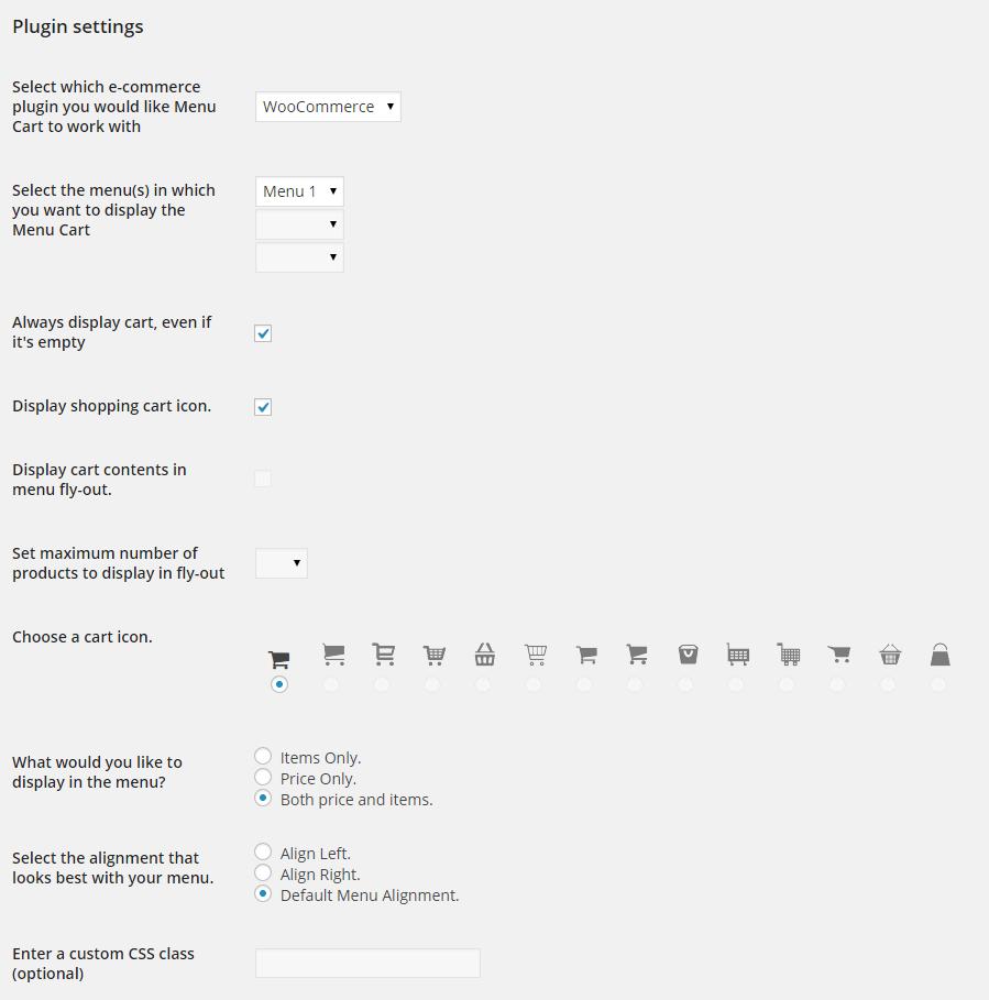 WooCommerce menu plugin