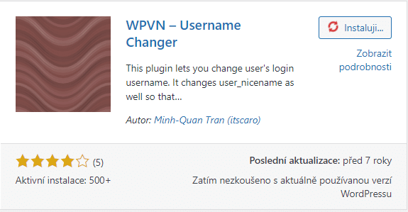 Plugin WPVN – Username Changer