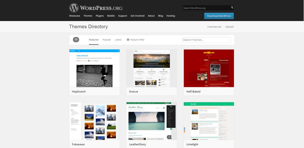WordPress šablony nový design