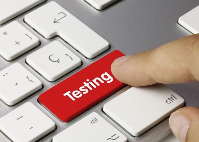 Testování tlačítko