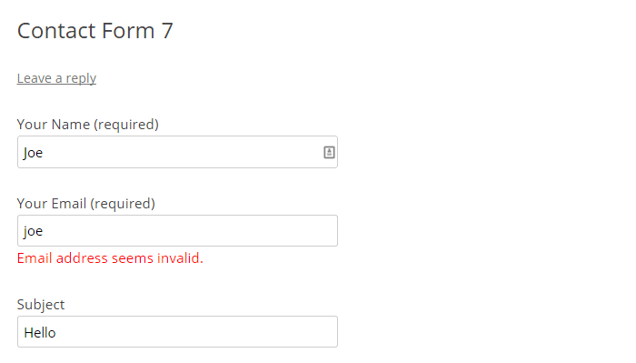 Chyba Contact Form 7