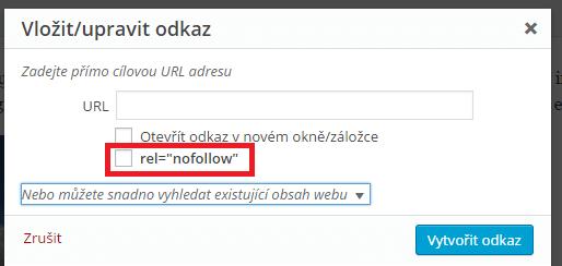 Nofollow pomocí pluginu