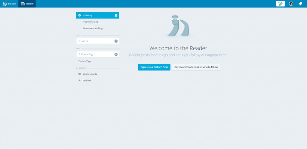 WordPress COM administrace