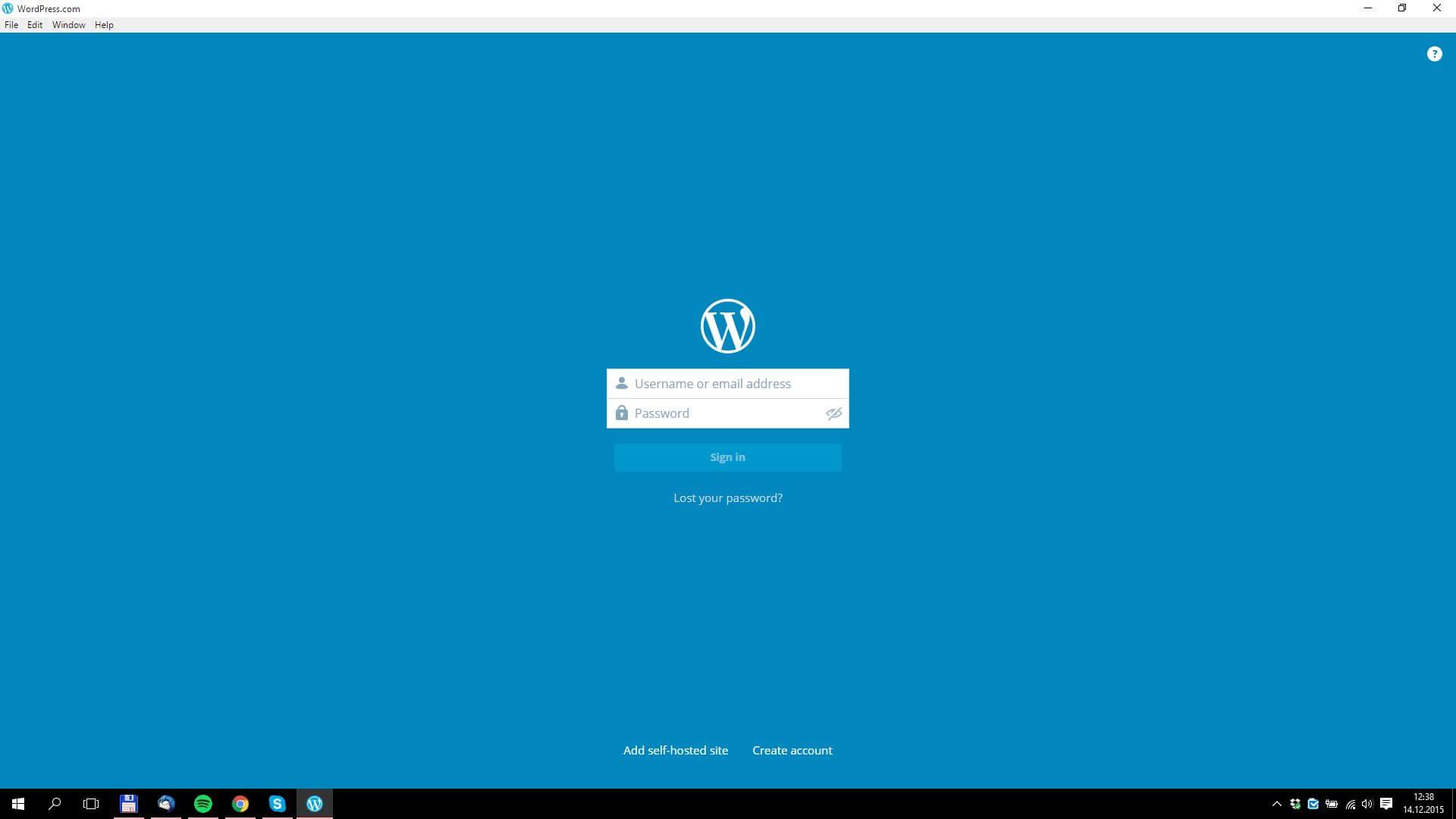 Přihlášení aplikace WordPress.com