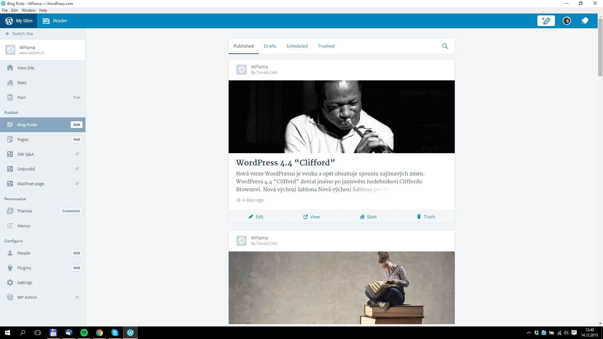 Správa webů aplikace WordPress.org