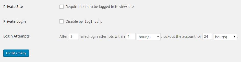 Theme My Login Security - modul bezpečnost