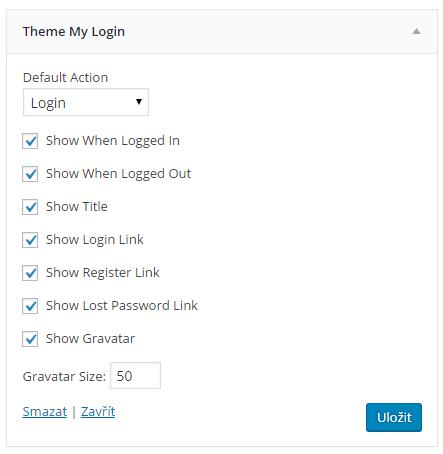 Theme My Login widget