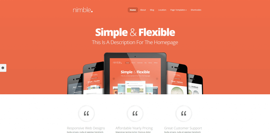 Nimble Theme Just another WordPress site