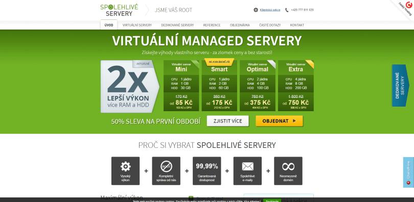 Spolehlivé servery Váš virtuální nebo dedikovaný server