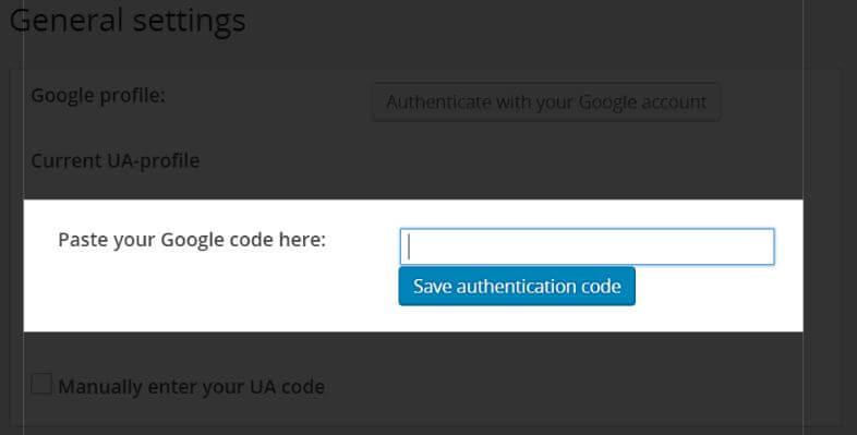Pole pro autorizační kód