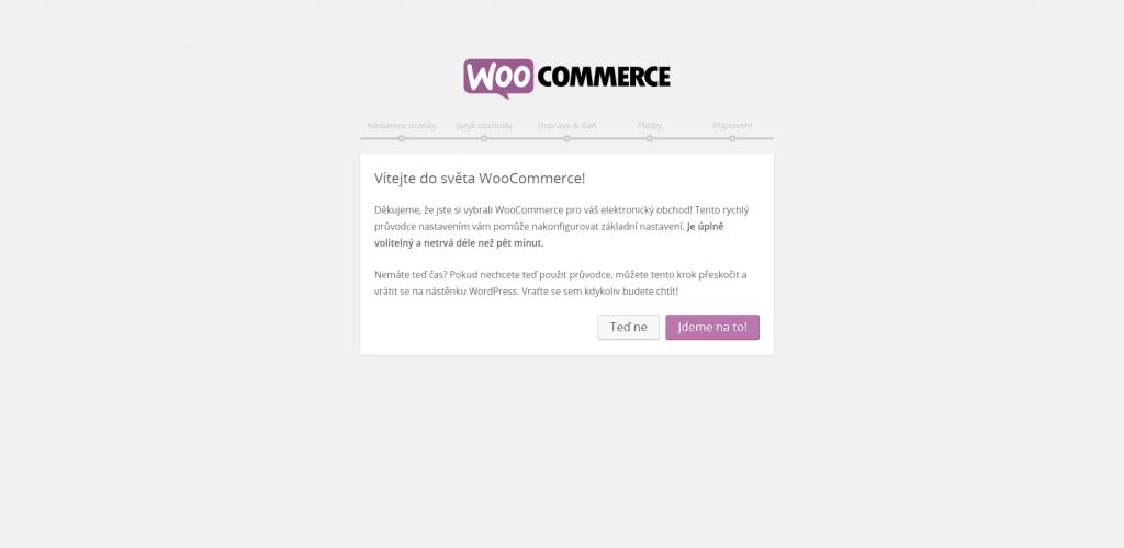 Inicializace WooCommerce