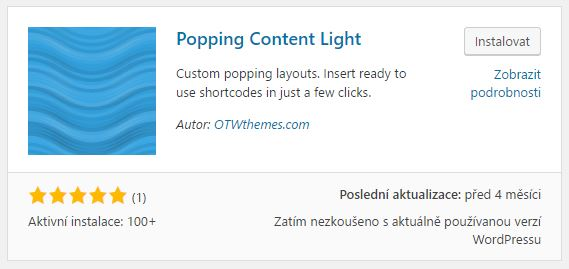 Popping Content Light