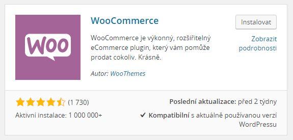WooCommerce instalace