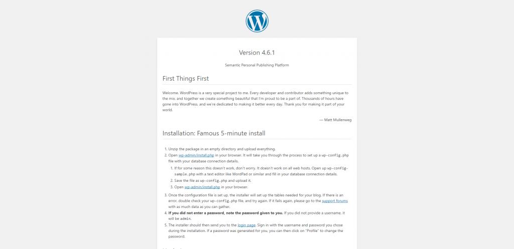 WordPress - readme.html
