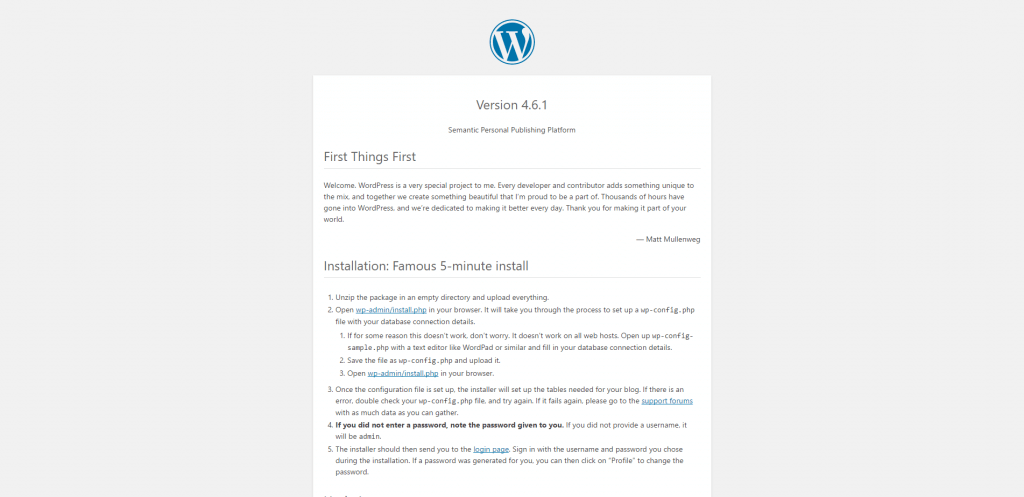 WordPress - readme.html