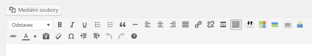 Přidání tlačítek + úprava pořadí ikonek