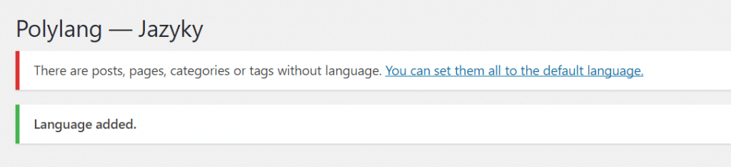 Nastavení výchozího jazyka