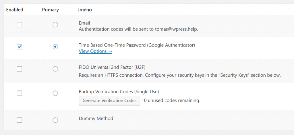 Time Based One-Time Password (Google Authenticator)