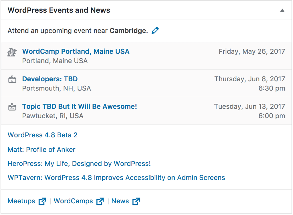 Nedaleké WordPress akce