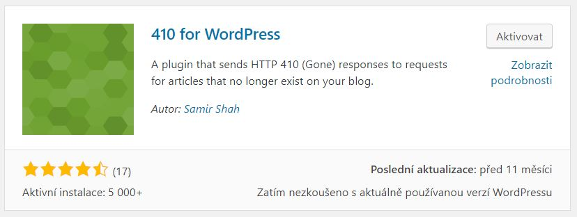 410 for WordPress