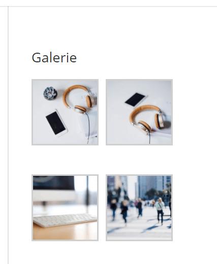 Galerie widget