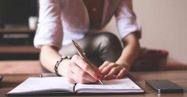 psaní do sešitu