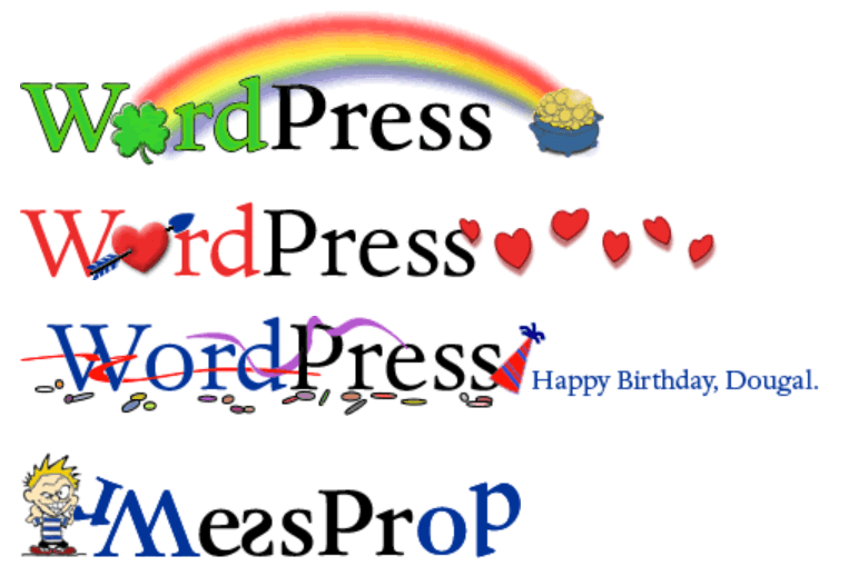 Varianty WordPress loga