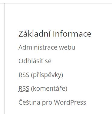 Základní informace widget