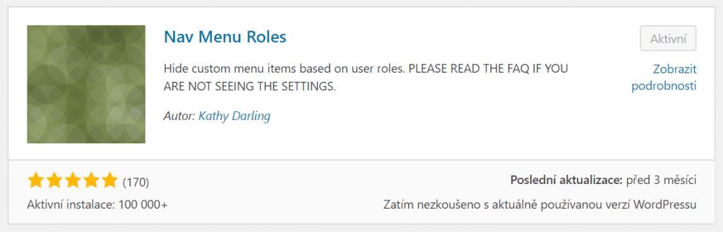 Nav Menu Roles
