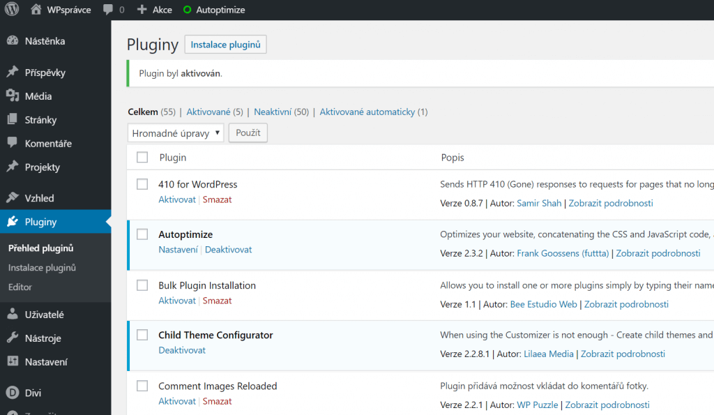 Přehled pluginů ve WordPress