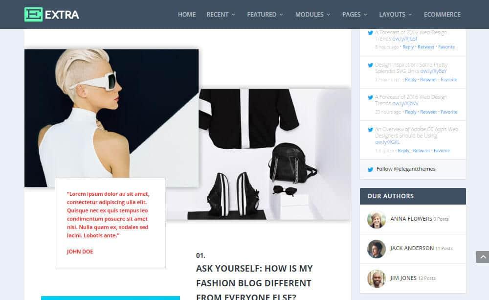 Extra WordPress šablona - příspěvek z blogu