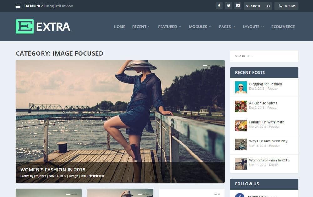 Extra WordPress šablona - volba domovské stránky