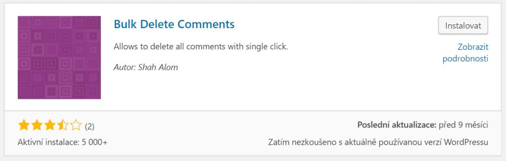 Bulk Delete Comments
