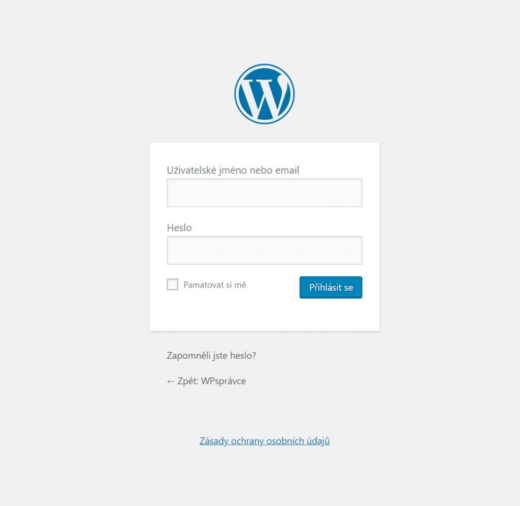 Přihlašovací formulář WordPress