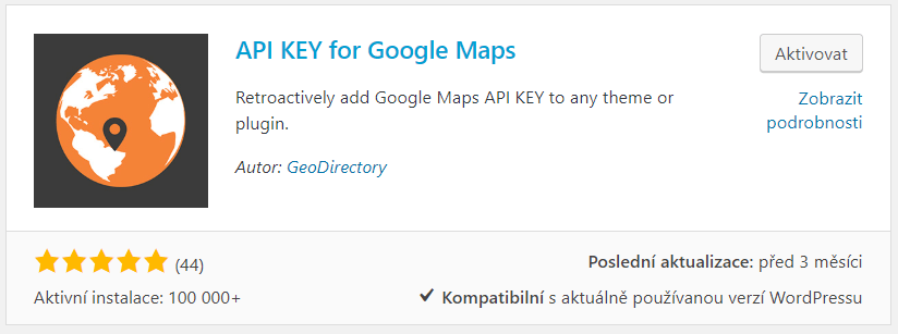 API KEY for Google Maps