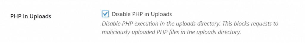 PHP in Uploads
